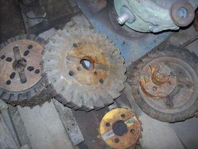 As rodas dentadas são vendidas por peça