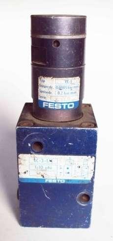marca: Festo válvula modelo: LC-3-1/4 (usada) atuador amplificador: VE-5 (usado)