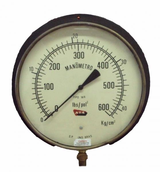 marca: ATA <br/>saída por baixo, diametro 290mm <br/>escala: 600lbs/pol2 42kg/cm2 <br/>estado: seminovo