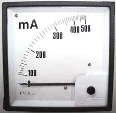 Amperímetro (escala: 500mAMP)