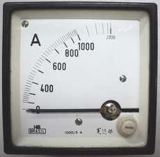 Amperímetro (escala: 2000AMP)
