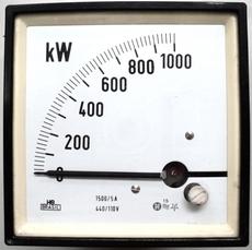 Medidor de potencia (escala: 1000KW)