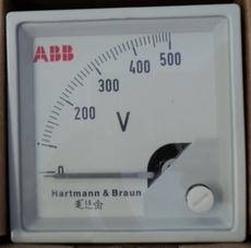 marca: ABB (Hartmann e Braun) modelo: FM72X72 escala: 500Volts estado: novo