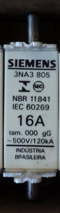 Fusível (modelo: 3NA3 805 16A)