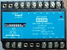 Medidor de energia (modelo: 3 elementos - 4 fios)