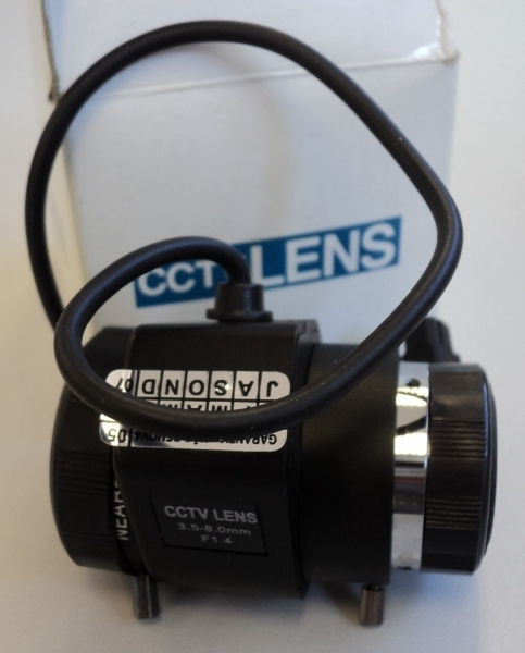 marca: CCTV LENS <br/>modelo: 1/3 TN0358A 3.5mm-8.0mm F1.4 <br/>estado: nova
