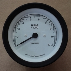 Tacometro para tacogerador (modelo: 10RPMX1000)