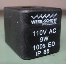 Bobina (modelo: 110VAC9W) para válvula pneumática