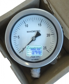 Manômetro (escala: 25kgf/cm2)