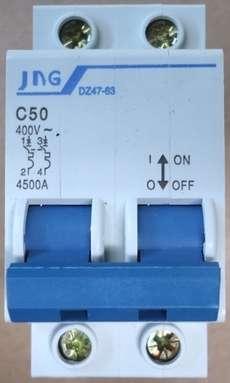 marca: JNG modelo: DZ4763C50 bipolar estado: novo
