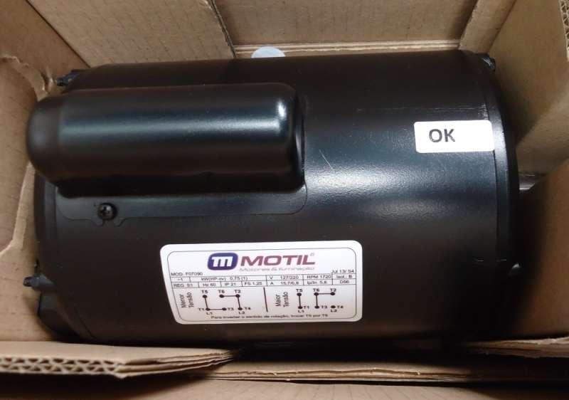 marca: Motil <br/>modelo: F07090 1HP/1CV 1720RPM 127/220V 60HZ monofásico <br/>estado: novo