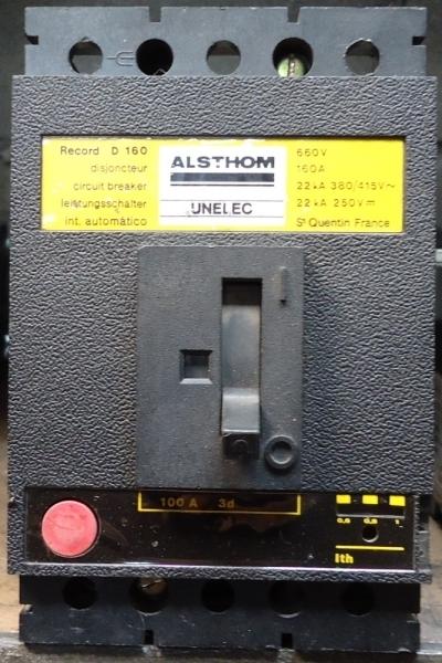 marca: Alsthom <br/>modelo: RecordD160, caixa moldada <br/>estado: usado
