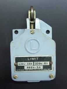 Fim de curso (modelo: 120V-10A, 220V-8A, 440V-5A)