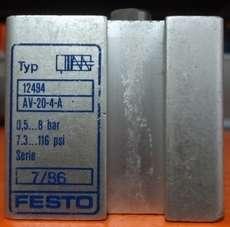 marca: FESTO modelo: AV204A 12494 20X4 estado: seminovo