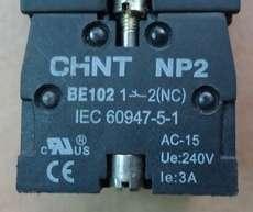 Bloco p/ botão (modelo: NP2BE10212NC)