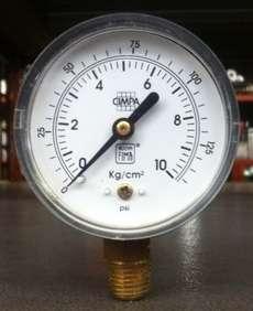 Manometro (escala: 10kg/cm2)