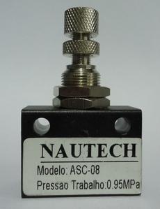 Regulador de fluxo (modelo: 1/4X1/4 ASC08)