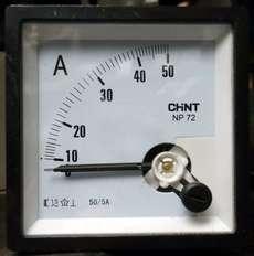 Amperímetro (escala: 50AMP)