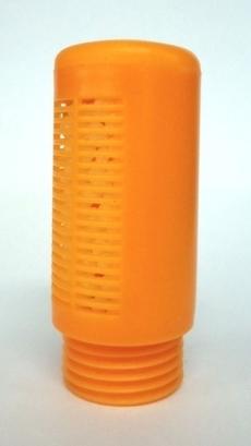 Silenciador (modelo: 1/2, plástico laranja)