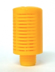 Silenciador (modelo: 1/8, em plástico laranja)