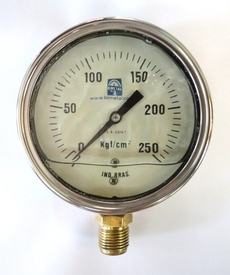 Manometro (escala: 250kgf/cm2)