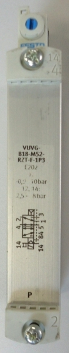 marca: FESTO modelo:VUVGB18M52RZTF1P3 estado: nunca foi utilizada