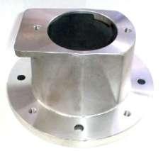 Flange de ligação motor-bomba em alumínio