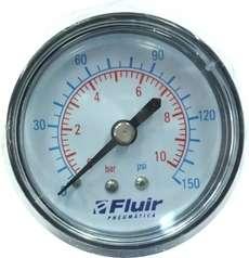 marca: FLUIR escala: 10BAR 150PSI modelo: diametro:50mm rosca:1/4 estado: novo