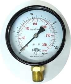 marca: WINTERS escala: 300lbf/pol2 kgf/cm2 modelo: rosca:1/2 diametro:100mm estado: novo