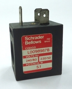 marca: SCHRADER BELLOWS modelo: L0098987B 240/60 5.1W estado: nova