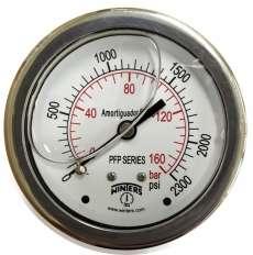 marca: WINTERS escala: 160BAR 2300PSI com glicerina modelo: PFP931R1R11S saída traseira total inoxidável