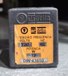 Bobina (modelo: 220V 60HZ 12W DIN 43650)