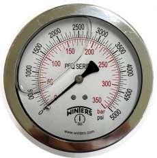 marca: WINTERS escala: 350BAR 5000PSI com glicerina modelo: PFQ1281R1R11 saída traseira total inoxidável
