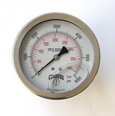 marca: WINTERS escala: 400BAR 6000PSI com glicerina modelo: PFQ1284R1R11 saída traseira total inoxidável